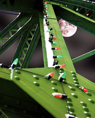 Poster featuring the digital art Clarence's Bridge by Tom Romeo