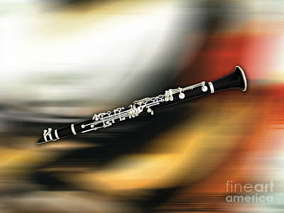 Clarinet Poster by Marvin Blaine