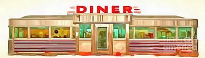 Classic Americana Diner Pop Poster by Edward Fielding