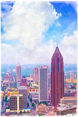 Classic Atlanta Midtown Skyline Poster