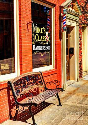 Classic Barbershop Poster by Mel Steinhauer