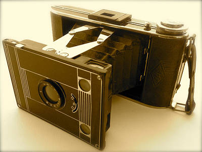 Classic Bellows Folding Camera Poster by John Colley