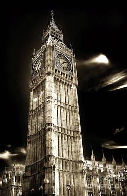 Classic Big Ben Poster by John Rizzuto