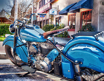Classic Blue Indian Chief Poster