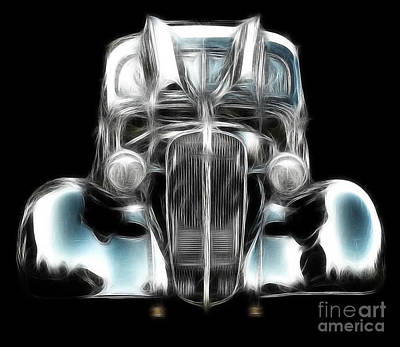 Poster featuring the photograph Classic Car Abstract by JRP Photography