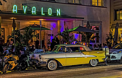 Classic Car At The Avalon Poster