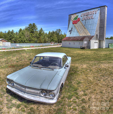 Classic Car At The Drive-in Poster by Twenty Two North Photography
