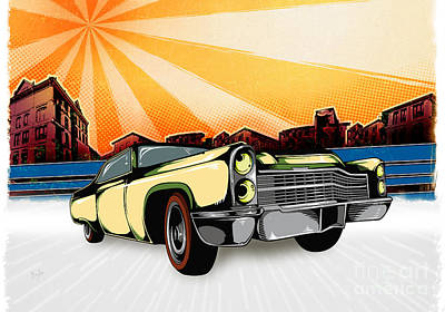 Classic Cars 10 Poster by Bedros Awak