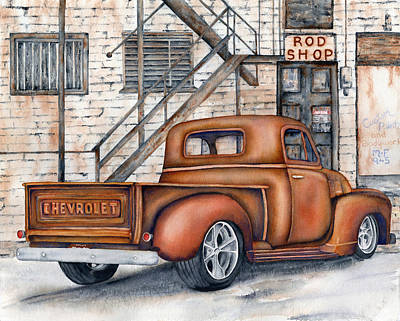 Classic Chevy Pu Poster by Diane Ferron