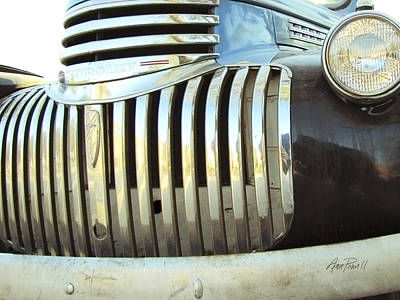 Classic Chevy Truck Grill Poster by Ann Powell