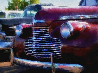 Classic Chevy Water Color Poster