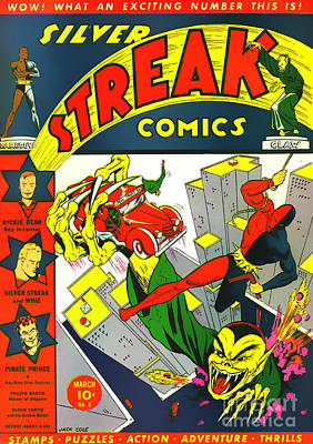 Classic Comic Book Cover - Silver Streak Comics Daredevil - 0320 Poster by Wingsdomain Art and Photography