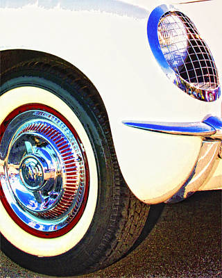 Classic Corvette Palm Springs Poster