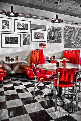 Classic Diner Poster by Delphimages Photo Creations