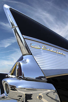 Classic Fin - 57 Chevy Belair Poster by Mike McGlothlen