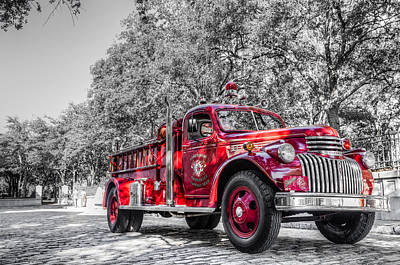 Classic Fire Engine  Poster by Drew Castelhano