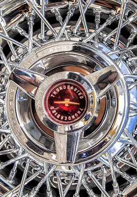 Classic Ford Thunderbird Wire Wheel Detail Poster