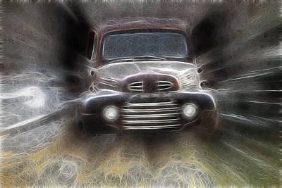 Classic Ford Truck Poster by Steve McKinzie