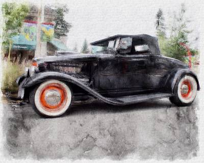 Classic Hot Rod Poster by David Brown