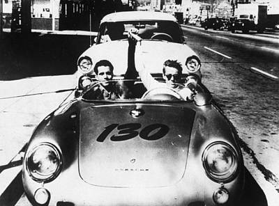 Classic James Dean Porsche Photo Poster