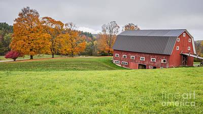 Classic New England Fall Farm Scene Poster by Edward Fielding