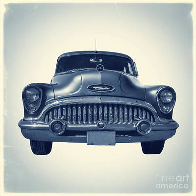 Classic Old Car On Vintage Background Poster by Edward Fielding