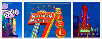 Classic Old Neon Signs Poster
