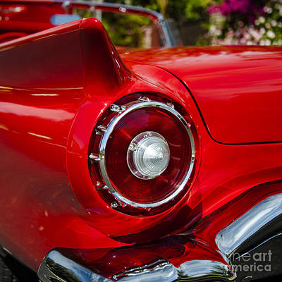 Poster featuring the photograph 1957 Ford Thunderbird Classic Car  by Jerry Cowart