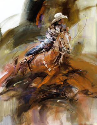 Classic Rodeo 6b Poster by Maryam Mughal