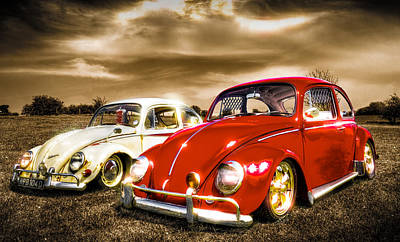 Classic Vw Beetles Poster by Ian Hufton