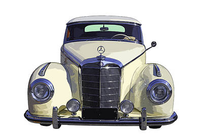 Classic White Mercedes Benz 300  Poster by Keith Webber Jr