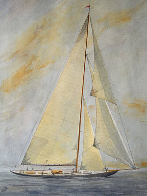 Classic Yacht Poster by Juan  Bosco