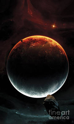 Classical Two Colored Space Scene Poster
