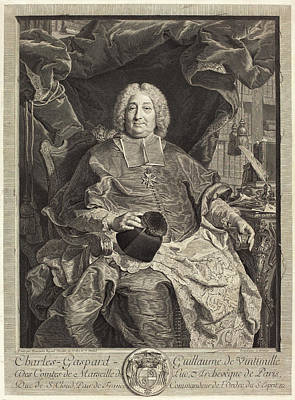 Claude Drevet After Hyacinthe Rigaud French Poster by Quint Lox