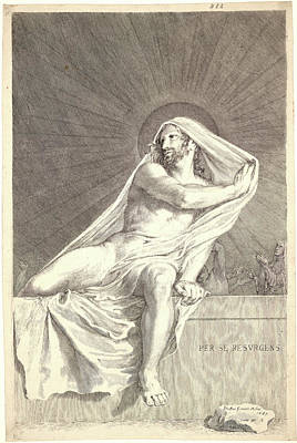 Claude Mellan French, 1598 - 1688. The Resurrection Poster by Litz Collection