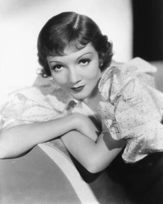 Claudette Colbert Poster by Silver Screen
