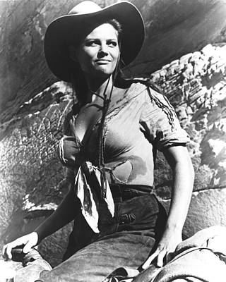 Claudia Cardinale In The Professionals Poster