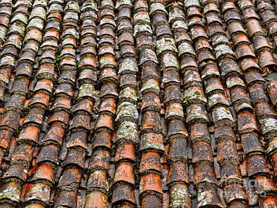 Poster featuring the photograph Clay Tile Roof Of A Greek Monastery by Alexandra Jordankova