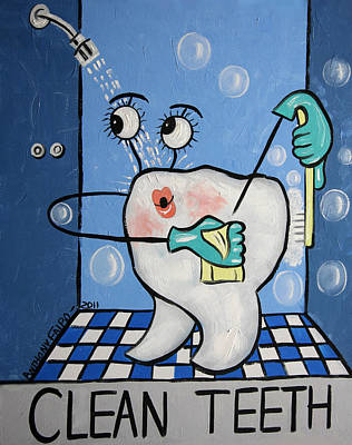 Clean Tooth Poster by Anthony Falbo