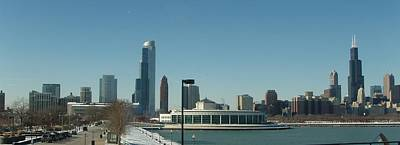 Poster featuring the photograph Clear Cold Chicago Day by Teresa Schomig