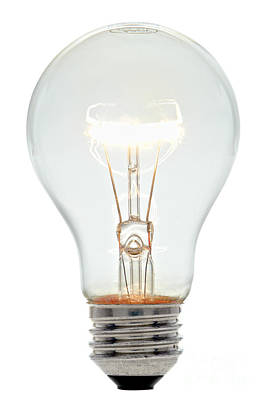 Clear Light Bulb Poster by Olivier Le Queinec