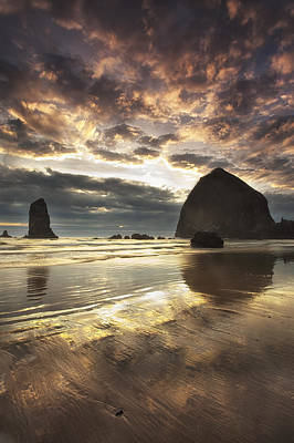 Clearing Skies At Cannon Beach Poster by Andrew Soundarajan