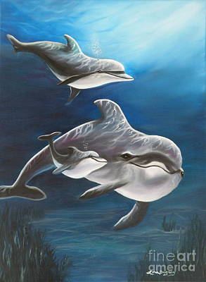 Clearwater Beach Dolphins Poster