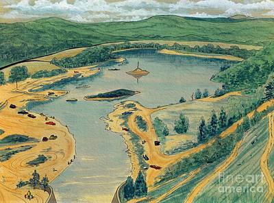 Poster featuring the painting Clearwater Lake Early Days by Kip DeVore