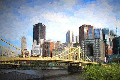 Clemente Bridge Painting Poster by Stephen Falavolito