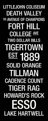 Clemson College Town Wall Art Poster by Replay Photos
