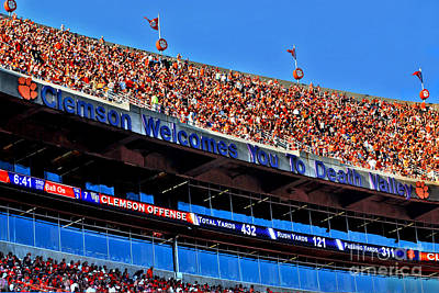 Clemson Tigers Death Valley Poster by Jeff McJunkin