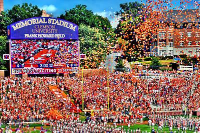 Clemson Tigers Memorial Stadium II Poster by Jeff McJunkin