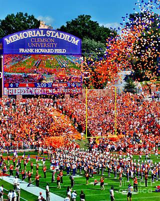 Clemson Tigers Memorial Stadium Poster by Jeff McJunkin