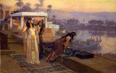Cleopatra On The Terraces Of Philae Poster by Frederick Arthur Bridgman